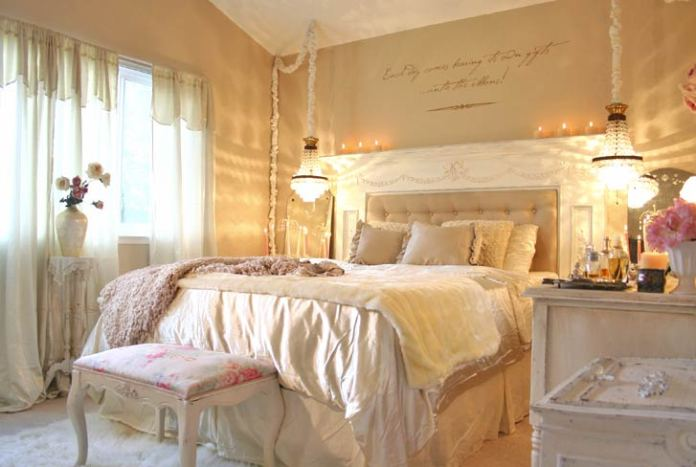 Yellow Shabby Chic Bedroom