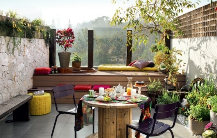 Colorful Home Terrace