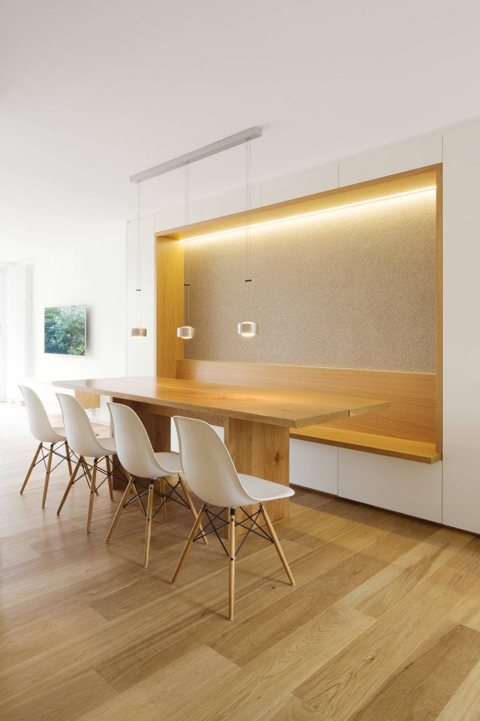 Minimalist Dining Room with Ambient Lights