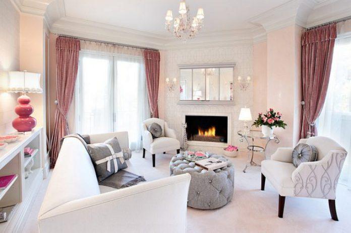 Warm Feminine Living Room