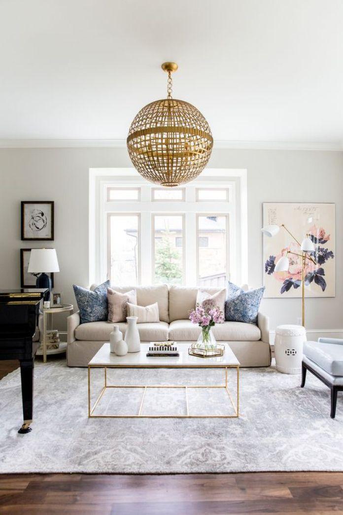 Luxurious Feminine Living Room