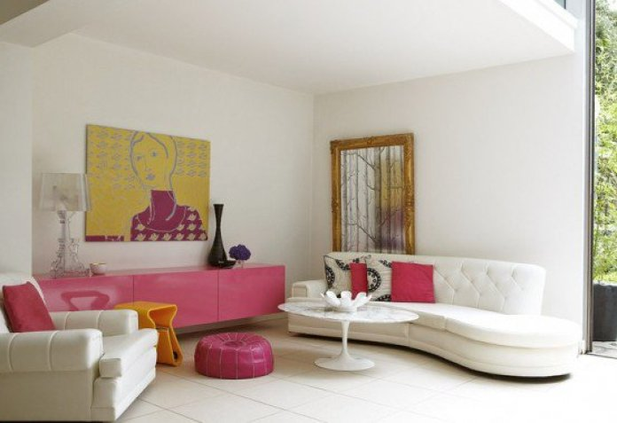 Artistic Feminine Living Room