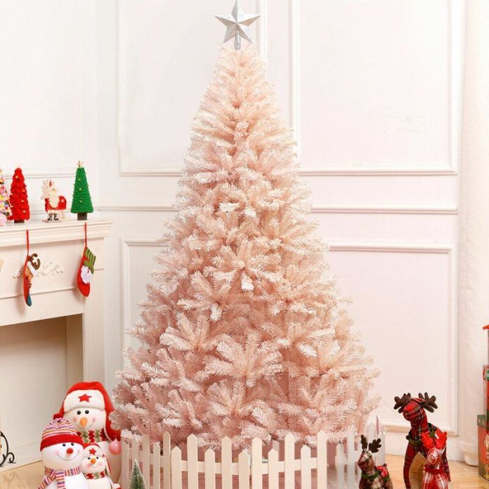 Soft Pink Christmas Tree