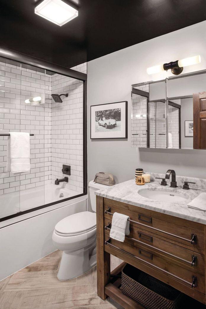 Contemporary Rustic Bathroom