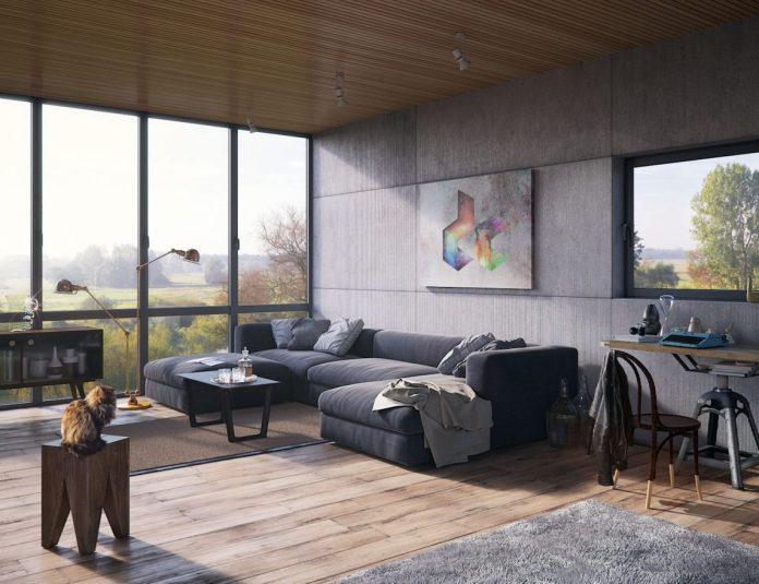 Minimalist Industrial Living Room