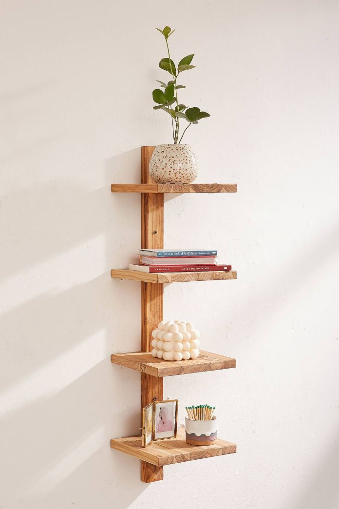 Minimalist Wooden Wall Shelf