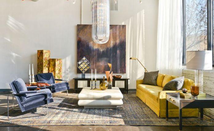 Yellow Sofa in a Bohemian Interior