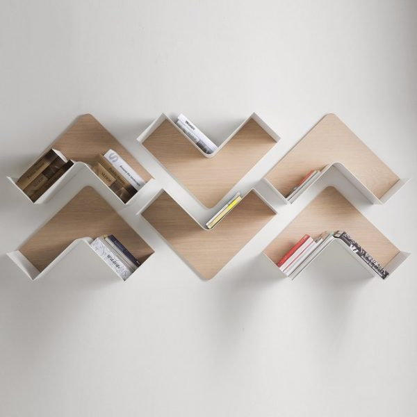 Fishbone Shaped Wall Shelf