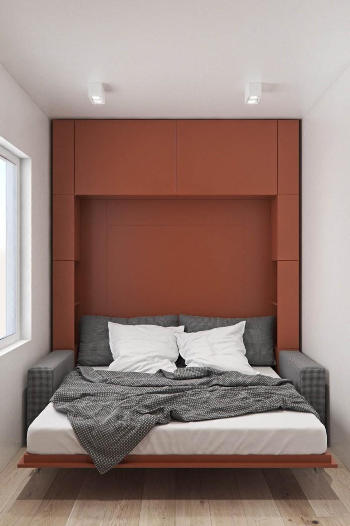 Elegant Red Murphy Bed
