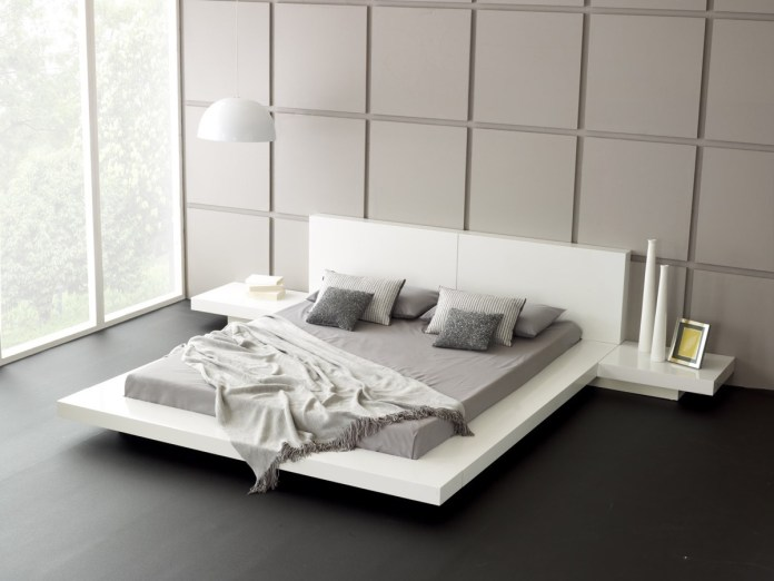 Minimalist Bedroom with Square Pattern