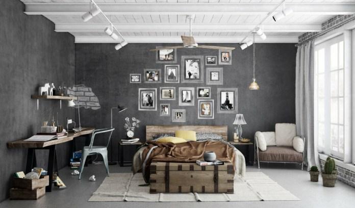 Industrial Gray Bedroom