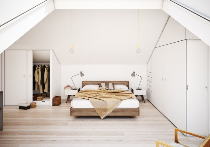 Attic Bedroom with Built in Storage