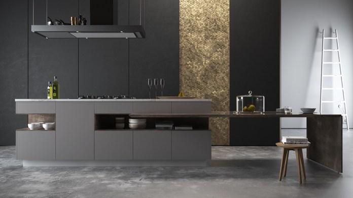 Dark Metallic Kitchen