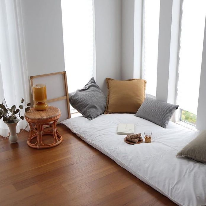 A Single Futon Bed to Replace a Corner Chair