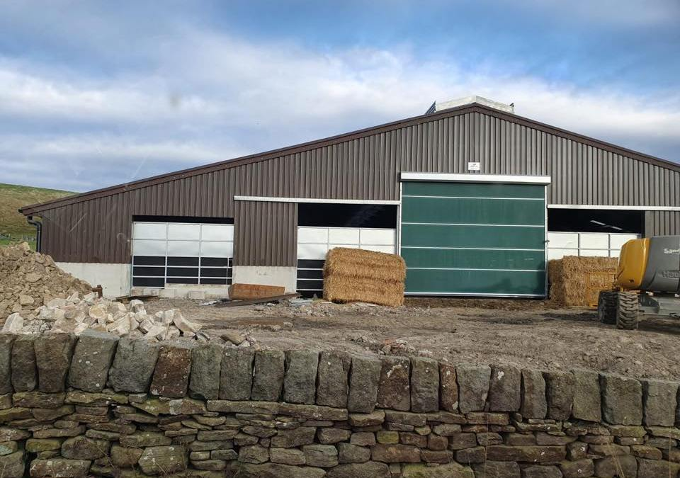 New Shed: Internal Equipment Installation / 2 x Galebreaker Fully Automated Curtains