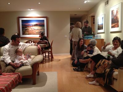 After the memorial, we gathered at my Aunt's house (Linda).