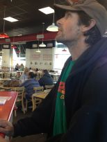 On the day we met, Caleb and I joined Dave for a burger at 5 Guys. This is Dave ordering his grub.