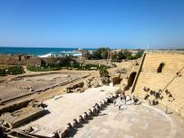 The theatre was built in Herod's time, and was used for hundreds of years