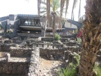 This alien-looking complex sits over the ruins of Peter's house; this location is near the Sea of Galilee.