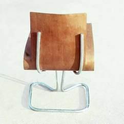 David Rowland Metal Chair Pool Lounge Replacement Fabric Work 1949 Molded Veneer Back