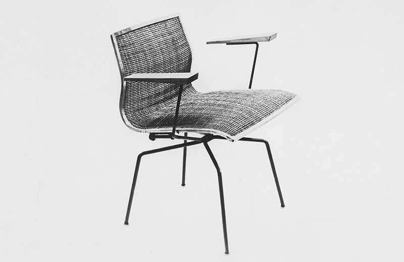 david rowland metal chair king george work 1951 spider side