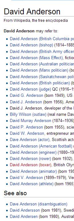 Lots of Davids