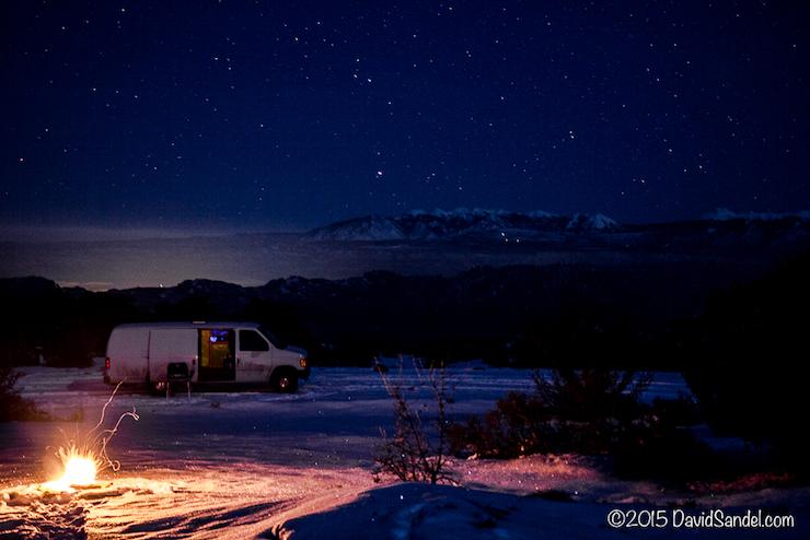 Van at night Long Canyon