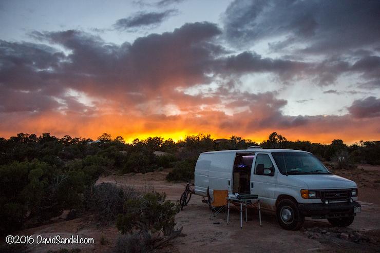 VanLife Long Canyon Utah Sunset