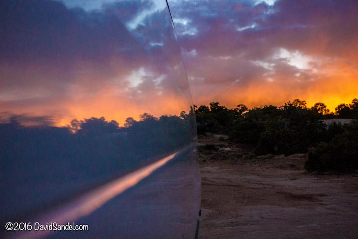 VanLife Sunset Reflection