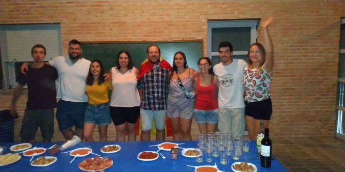 Compañeros del equipo español