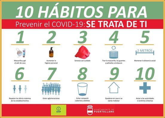 10 hábitos para prevenir el COVID-19