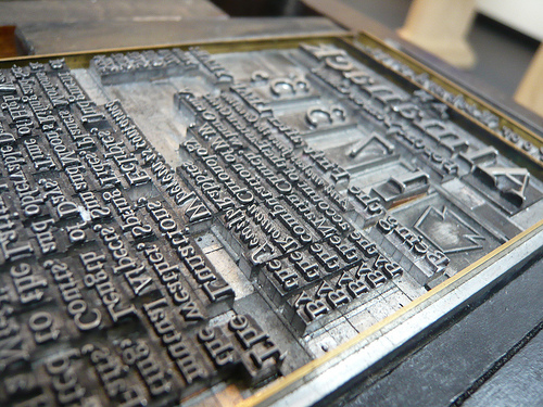 Back to My Printing Press