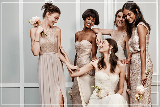 Gold & Silver Bridesmaid Dresses