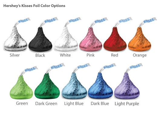 Pers Classic Wedding Colored Foil Hershey39s Kisses David