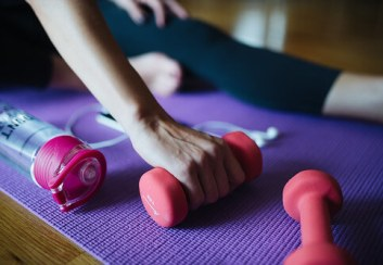 exercise for strength integrates well with yoga therapy & mindful medical massage therapy