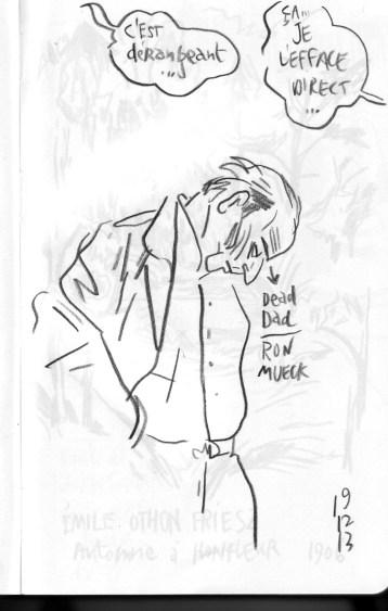Au dessus de DEAD DAD de Ron Mueck