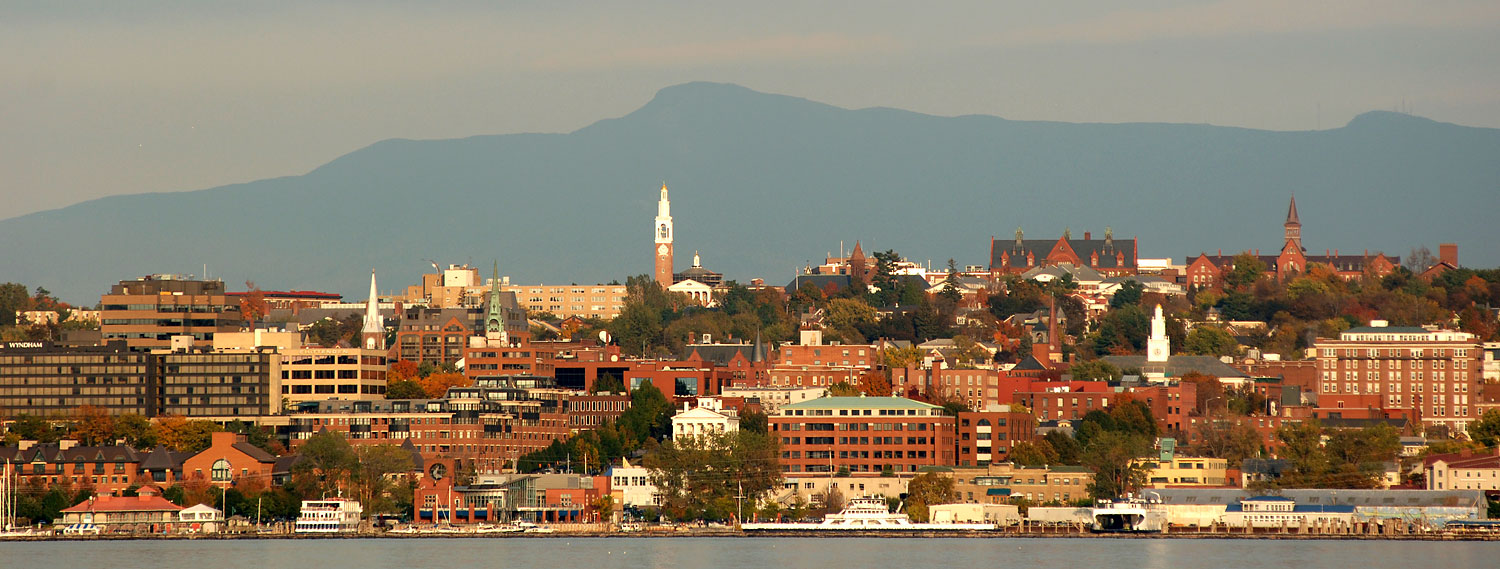 Burlington Vermont Waterfront Panoramic  Vermont Photographers  David Seaver Comercial