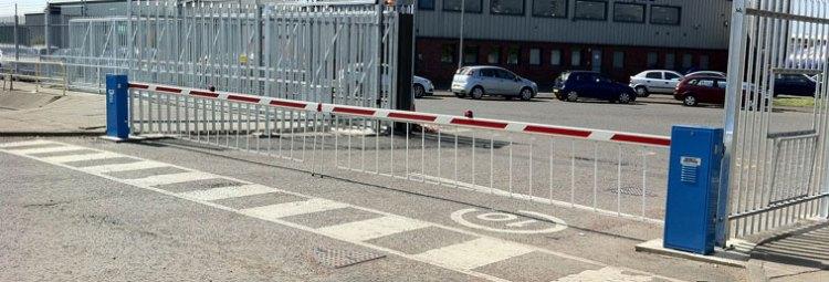 Gate barrier parking lot.
