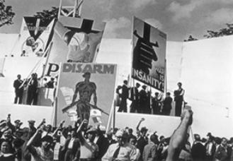 JA Loyalist rally Spain, 1936 But should be Anti-war rally, St. Cloud, Paris, 1936