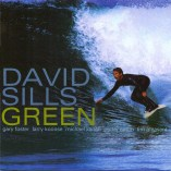 photo of CD cover of surfing saxophonist David Sills CD entitled Green