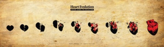 Heart Evolution by Shozen at Deviantart