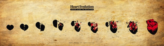Heart Evolution by Shozen at Deviantart