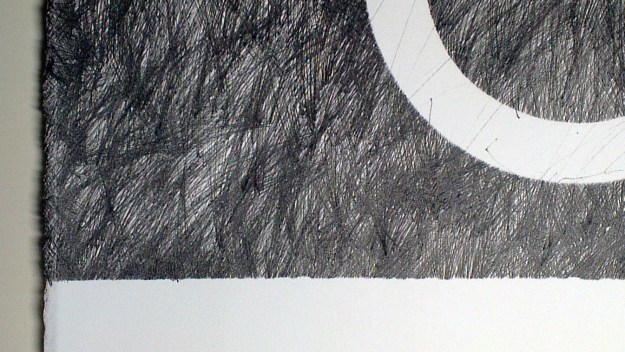Detail from A Small Homage to Max Ernst, a drawing by David Smith