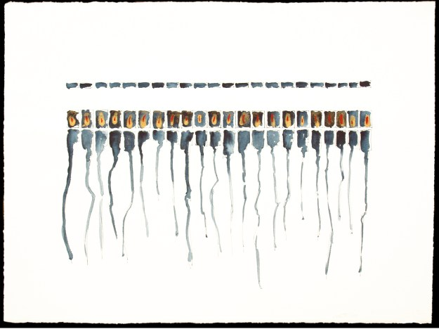 Outfall 2 - drawing in ink and watercolour by David Smith