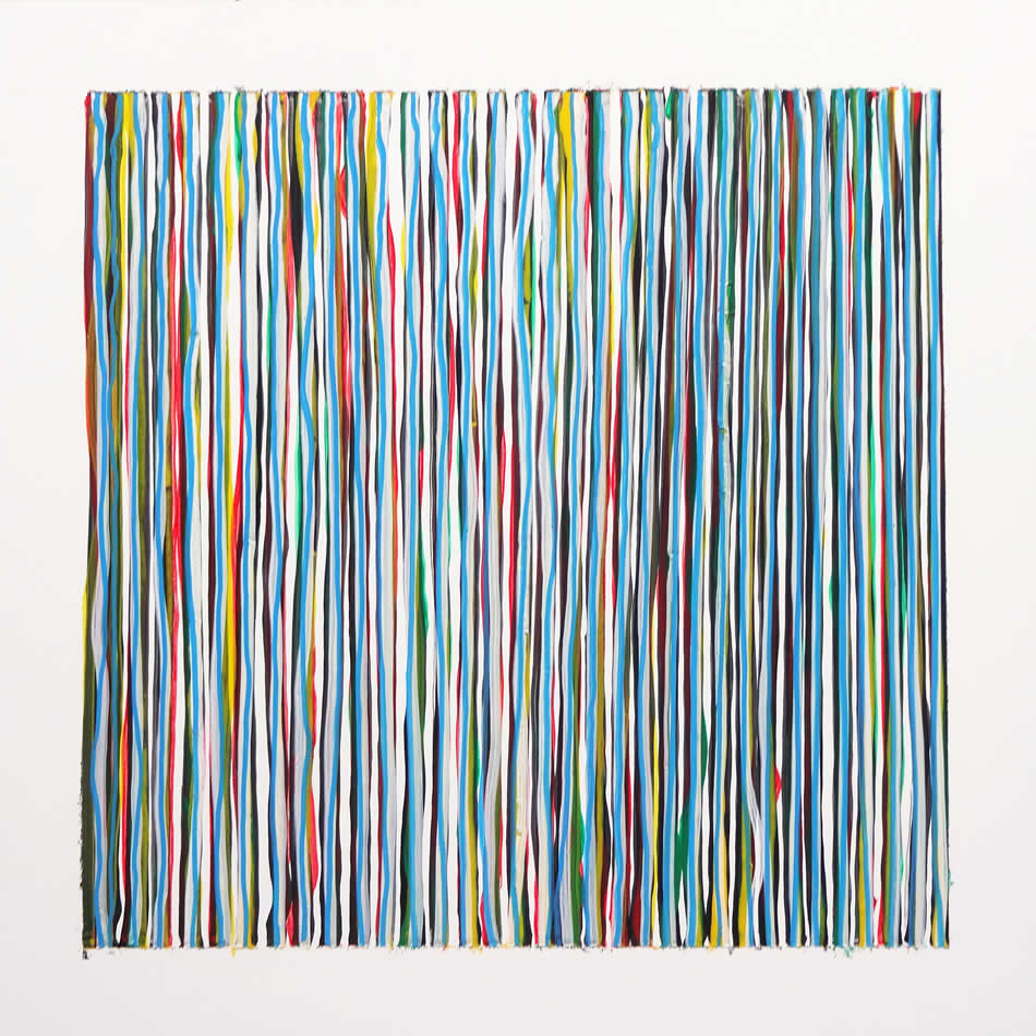 Colourful Black Square 1 - abstract painting by David Smith