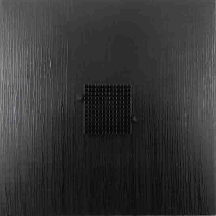 Abstract black square construction by David Smith