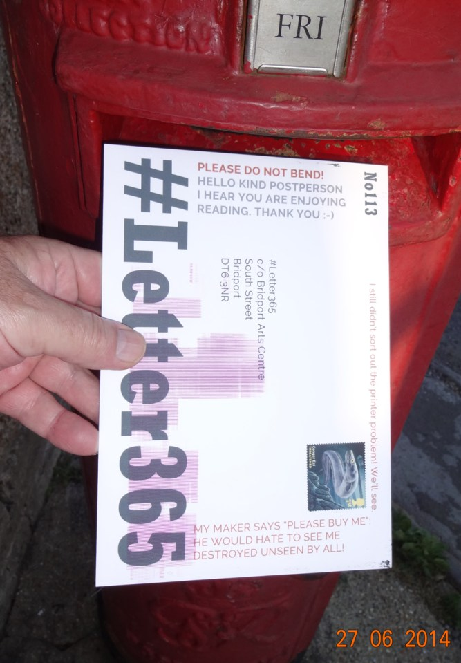 I often put messages for the posties on the envelopes
