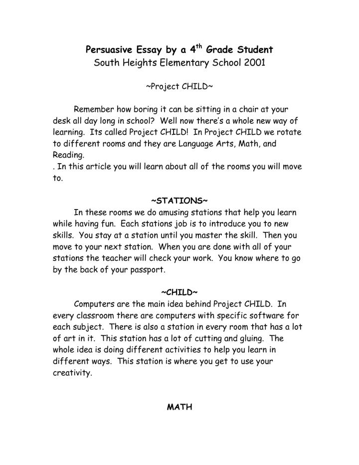 5th grade sample persuasive essay help with c homework writing