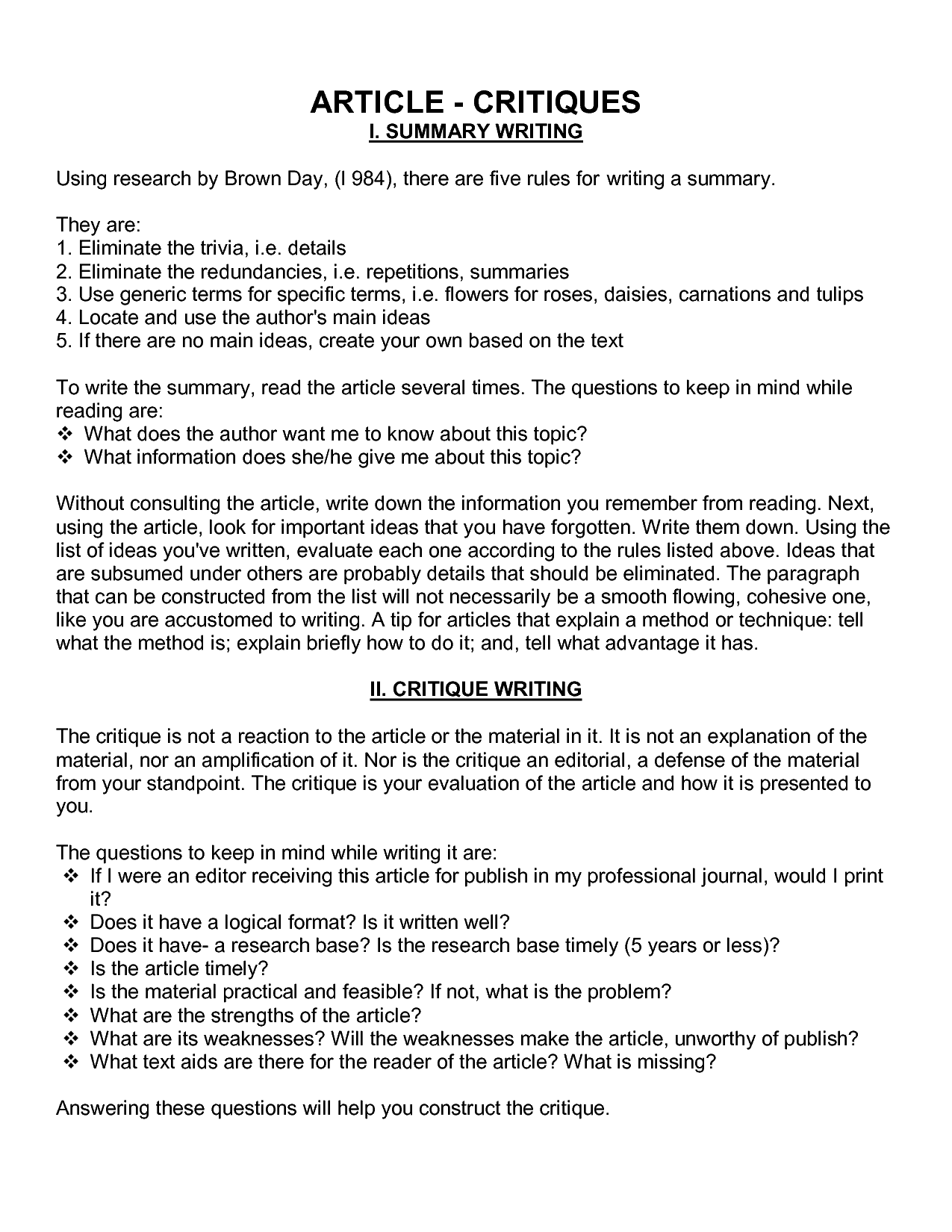 How To Write A Critique Essay Book Review Essay Example Sample Essay