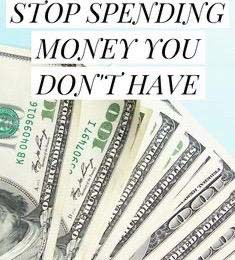Stop spending money you don't have